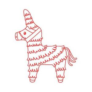 Piñata Rubber Stamp