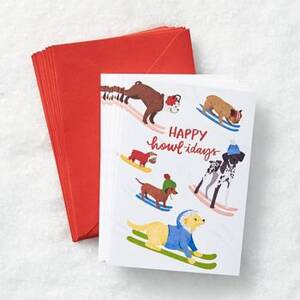 Happy Howlidays Dogs Boxed Cards