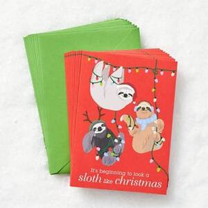 Holiday Sloths Card Set