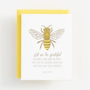Grateful Bee Greeting Card