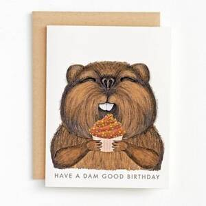 Beaver Birthday Card