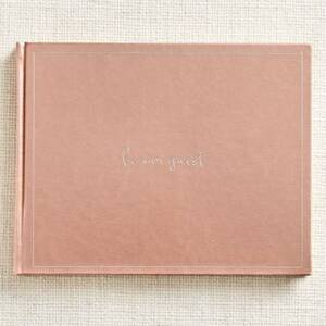 Be Our Guest Rose Gold Guest Book