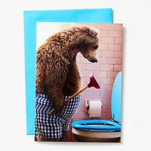 Bear Plunger Father's Day Card