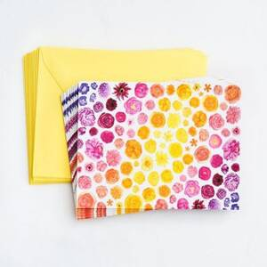 Rainbow Floral Stationery Set