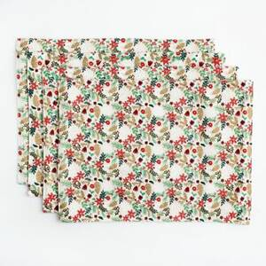 Holiday Floral Placemats