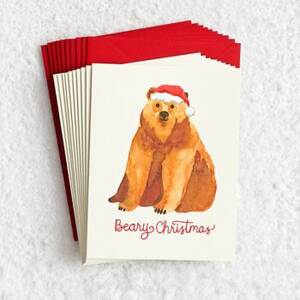 Beary Christmas Holiday Card Set