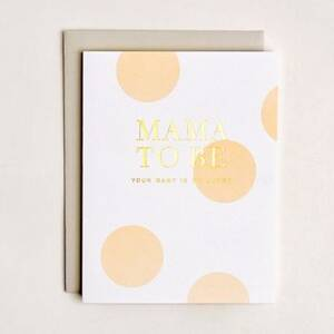 Mama To Be Baby Card