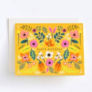Bright Florals Birthday Card