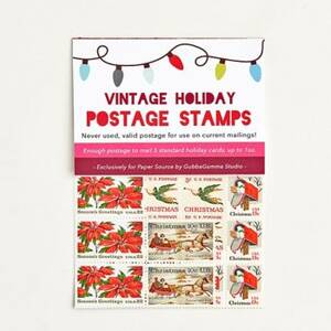 Holiday Vintage Postage Stamps