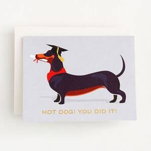 Hot Dog Graduation Card