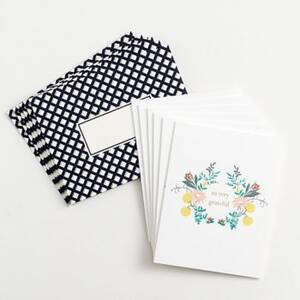 Grateful Florals Thank You Card Set