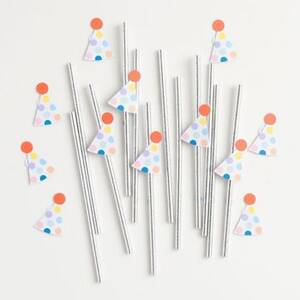 Party Hat Straws