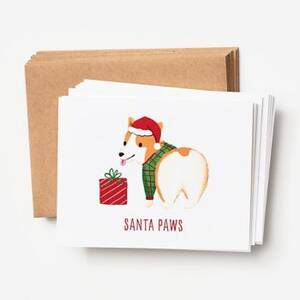 Santa Paws Holiday Card Set