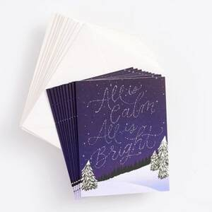 All is Calm Starry Sky Holiday Card Set