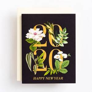 2020 Florals New Year Card