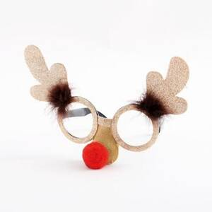 Reindeer Red Nose Glasses