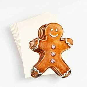 Gingerbread Man Die Cut Cards