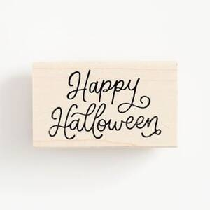 Happy Halloween Script Stamp