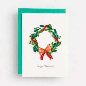 Quilled Wreath Christmas Card