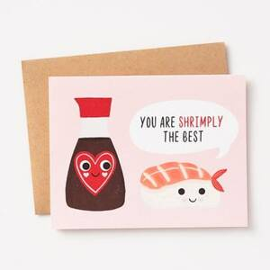 Shrimply The Best Love Card