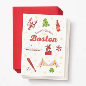 Greetings from Boston Holiday Card Set