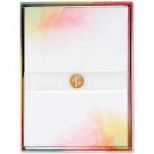 Watercolor Sunset Stationery Set