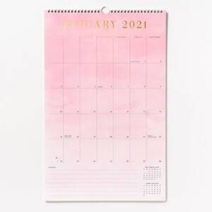 2020-2021 Foil Watercolor Calendar
