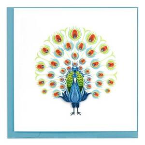 Quilling Peacock Greeting Card