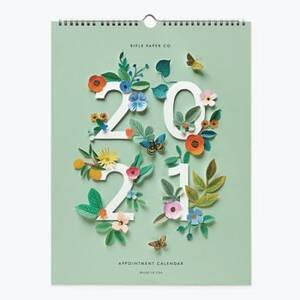 2021 Cutout Flowers Grid Calendar