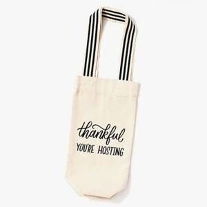 Thankful You're Hosting Wine Bag