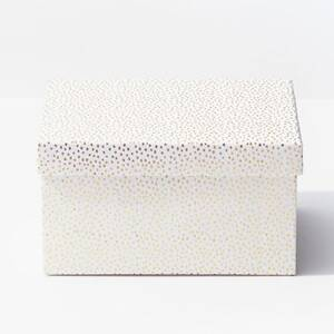 Gold Flurry Dots On White Extra Large Gift Box