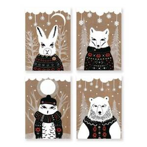 Animals In Sweaters Holiday Card Set