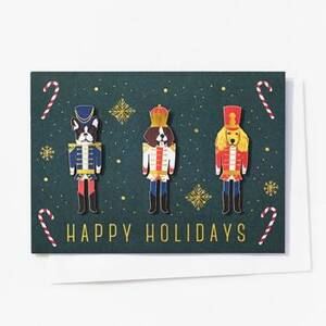 Nutcracker Dogs Christmas Card