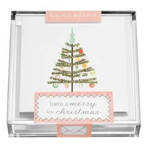 Mini Glitter Tree Holiday Card Set
