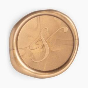 Gold Ampersand Wax Seal