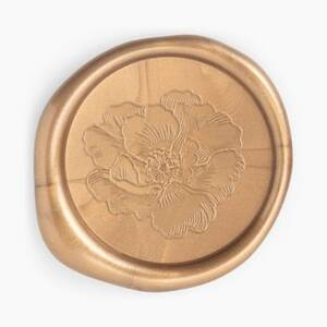 Gold Magnolia Wax Seal