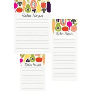 Farmers Market Mixed Personalized Note Pads