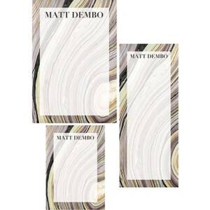Marble Mixed Personalized Note Pads