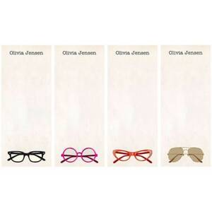 Glasses Personalized List Pads