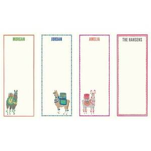 Llamas Personalized List Pads