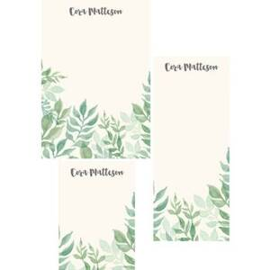 Watercolor Garden Mixed Personalized Note Pads
