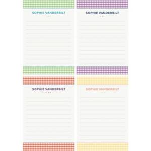 Gingham Personalized Note Pads