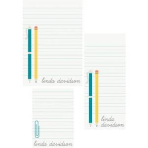Pen and Pencil Mixed Personalized Note Pads