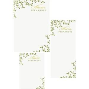 Leaves Mixed Personalized Note Pads
