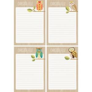 Owls Personalized Note Pads
