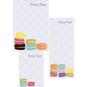 Macarons Mixed Personalized Note Pads
