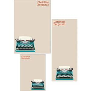 Typewriter Mixed Personalized Note Pads
