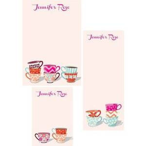 Tea Cups Mixed Personalized Note Pads