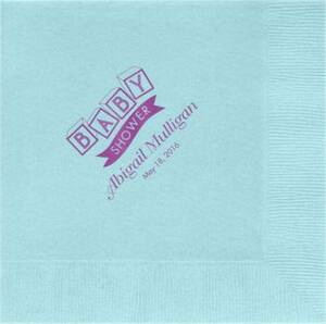 Blocks Baby Shower Custom Lunch Napkins