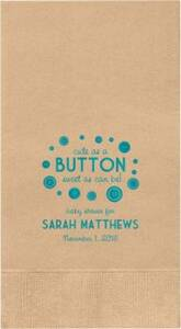 Button Baby Shower Custom Guest Napkins